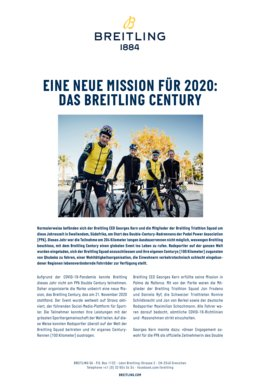 Breitling - A New Mission for 2020: The Breitling Century