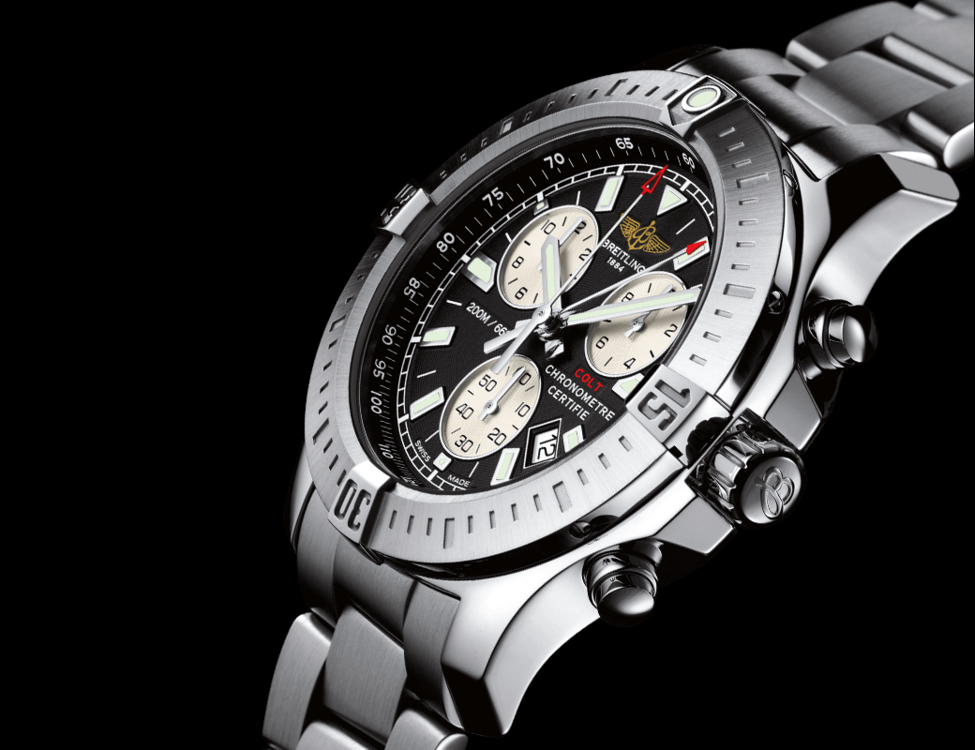 breitling colt chronograph superquartz sportuhr. Black Bedroom Furniture Sets. Home Design Ideas