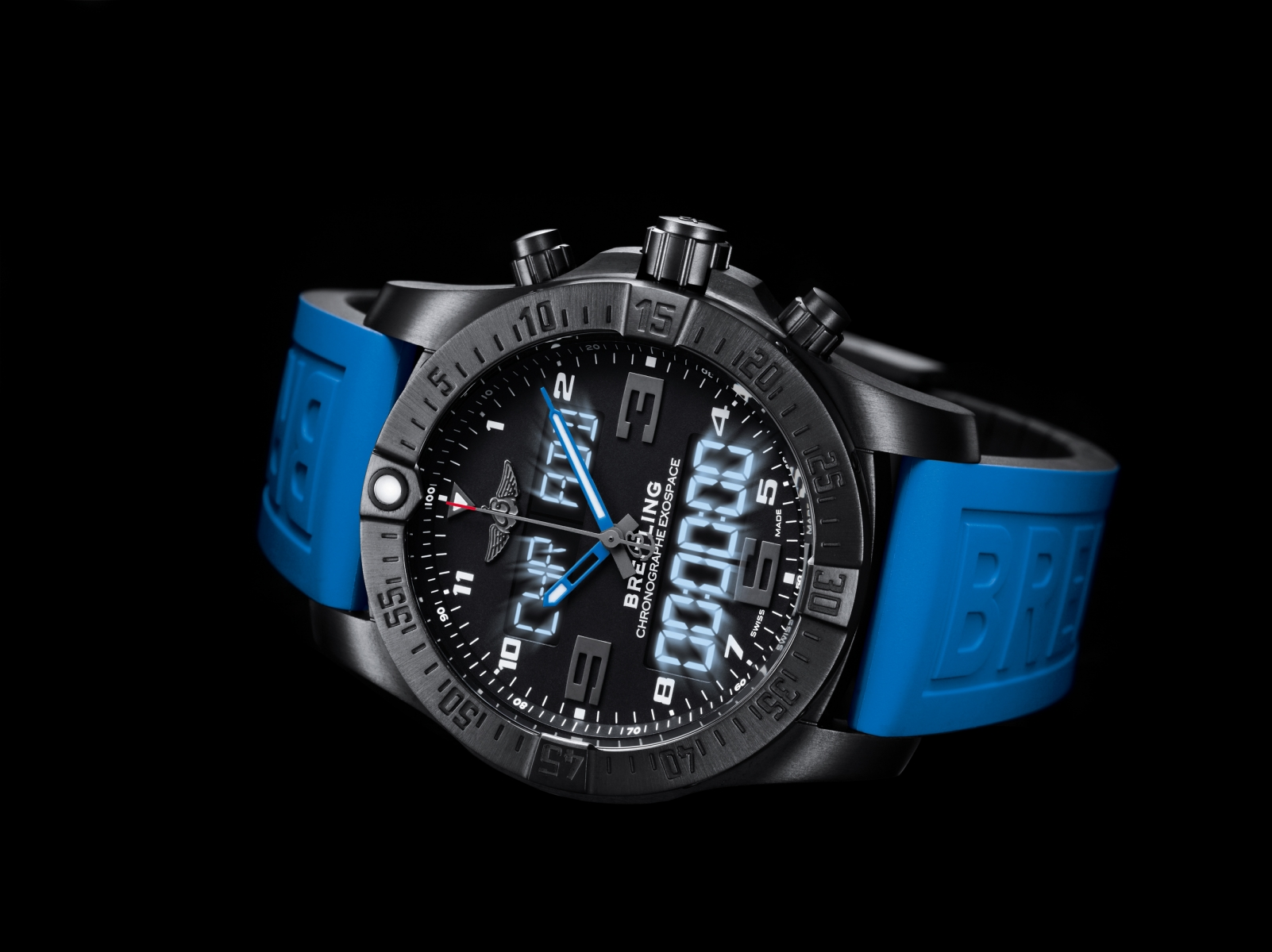 Breitling exospace b55 the connected swiss watch for pilots for Watches breitling