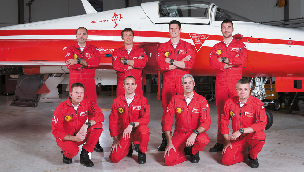 Breitling partners the Patrouille Suisse