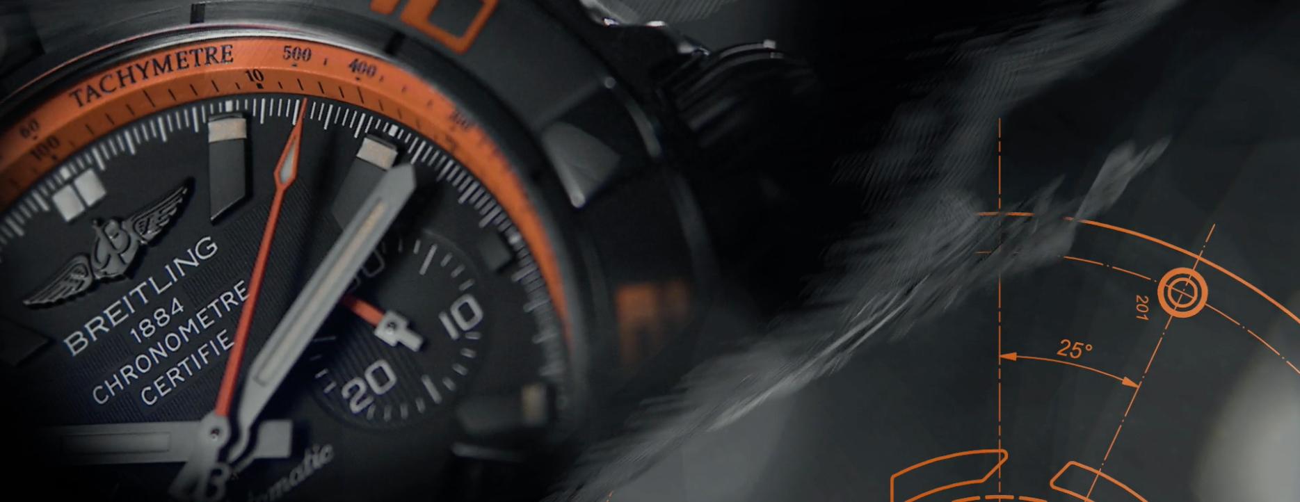 百年灵终极计时黑鹰腕表