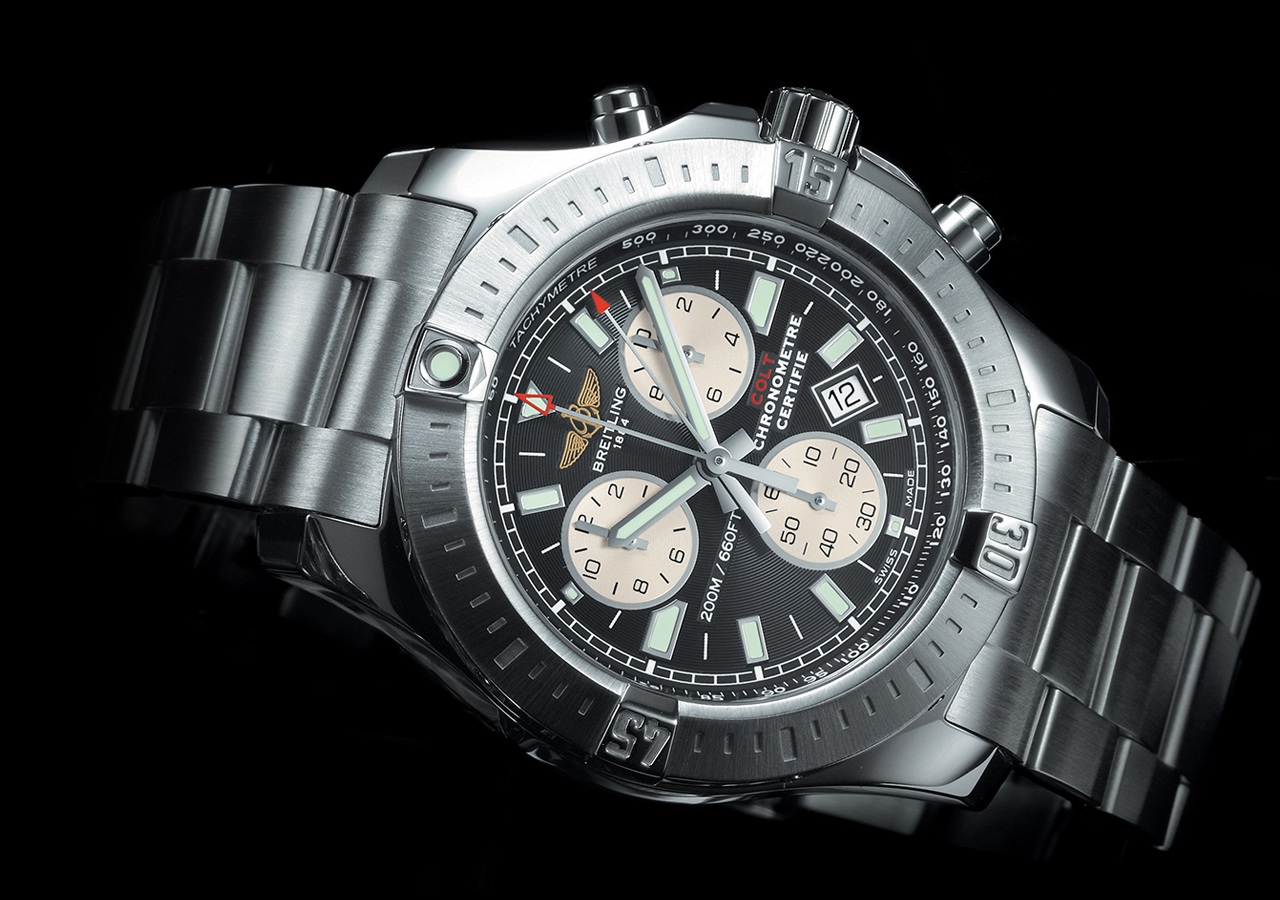 breitling colt chronograph superquartz sports watch. Black Bedroom Furniture Sets. Home Design Ideas