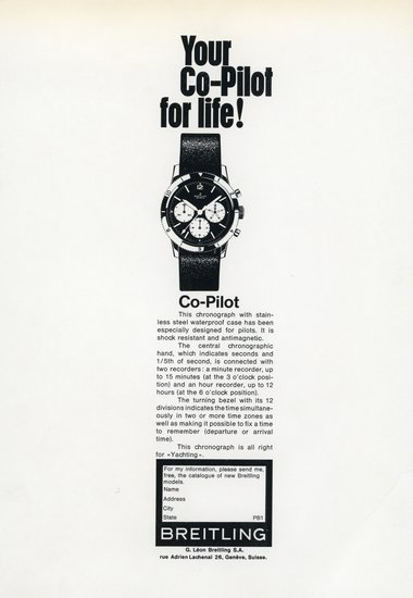 "Co-Pilot reference 765 AVI vintage ad from circa 1960s stating ""Your Co-Pilot For Life"""