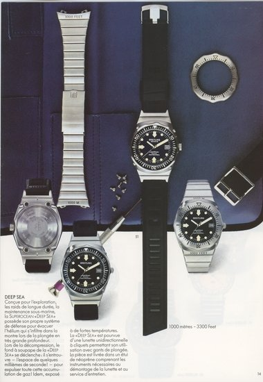 "SuperOcean ""Deep-Sea"" reference 81190 Vintage Ad from circa 1980s"