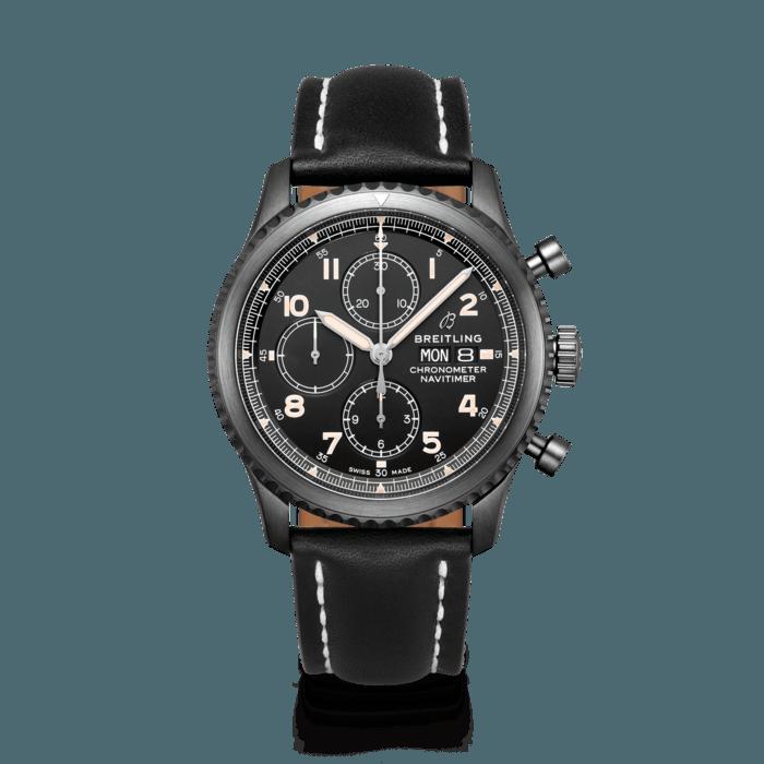 2f08e206260 Navitimer 8 Chronograph 43 Black steel - Black M13314101B1X1 | Breitling