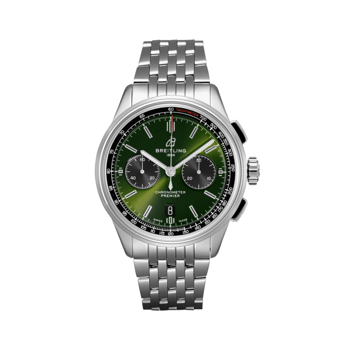Premier B01 Chronograph 42 Bentley British Racing Green - AB0118A11L1A1