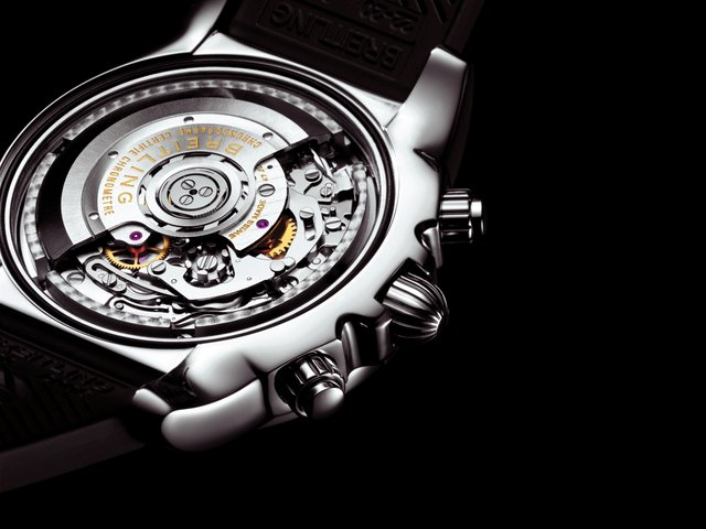Caseback view of the Chronomat 01 from 2009