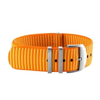 Orange Outerknown Econyl®-yarn single-piece strap (with stainless steel keepers) - 20 mm