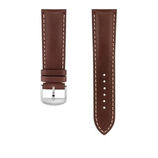 Brown novo nappa calfskin leather strap - 23 mm