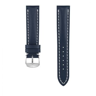 Blue calfskin leather strap - 20 mm