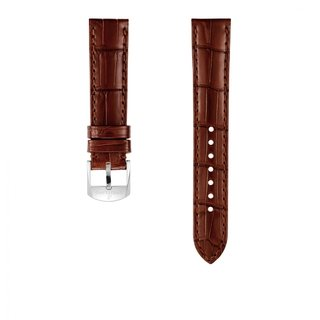Brown alligator leather strap - 18 mm