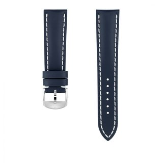 Blue calfskin leather strap - 21 mm