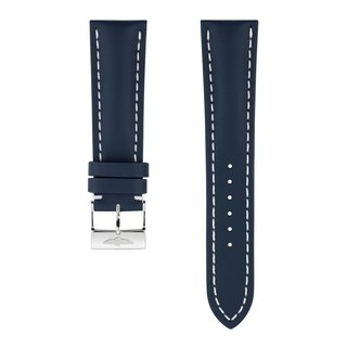 Blue calfskin leather strap - 24 mm