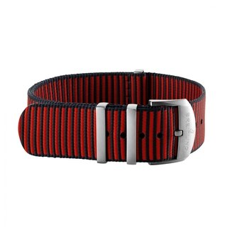 Red Outerknown Econyl®-yarn NATO strap (with stainless steel keepers) - 22 mm