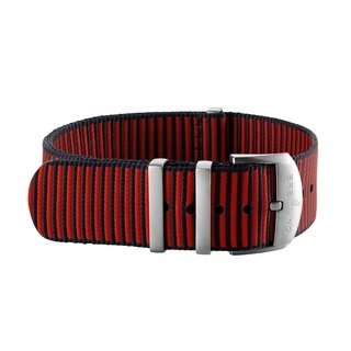 Red Outerknown Econyl®-yarn single-piece strap (with stainless steel keepers) - 20 mm