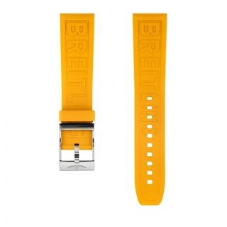 Yellow Diver Pro rubber strap - 22 mm