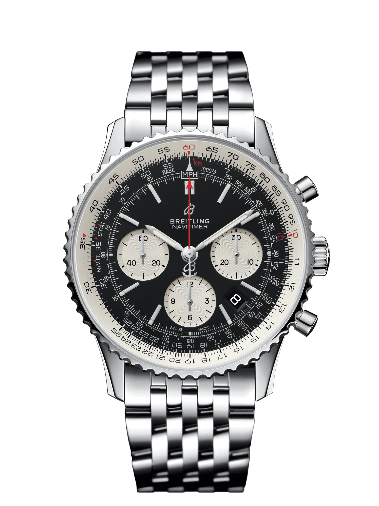 Navitimer 1 b01 chronograph 43 steel pilot ab0121211b1a1 for Watches breitling