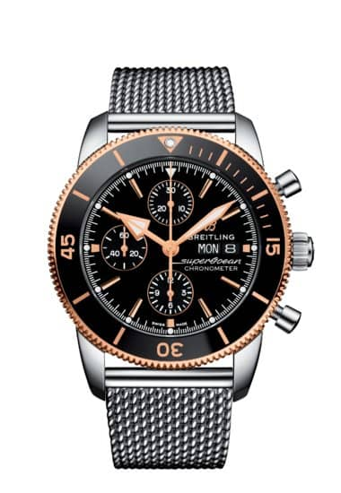 watches blog watch superocean on dive classics the blue regular breitling hands gun watchtime wednesday ii with