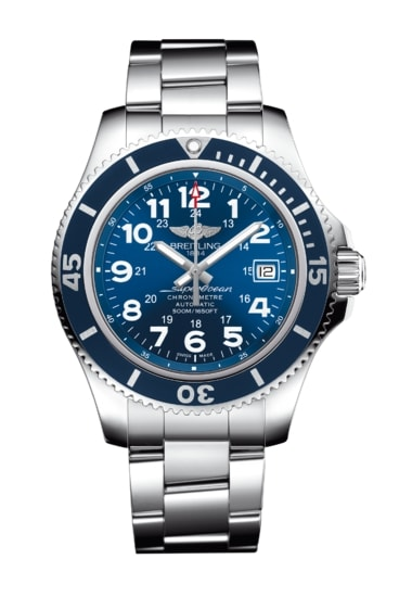 superocean watches p breitling watch box mens stainless papers brand new s steelfish steel chronograph