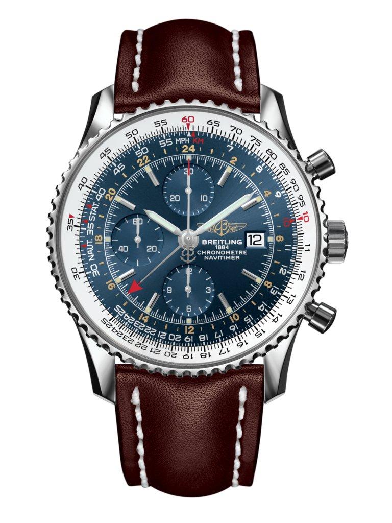 7d27f2612 Navitimer 1 Chronograph GMT 46 Steel - Blue A24322121C1X2 | Breitling