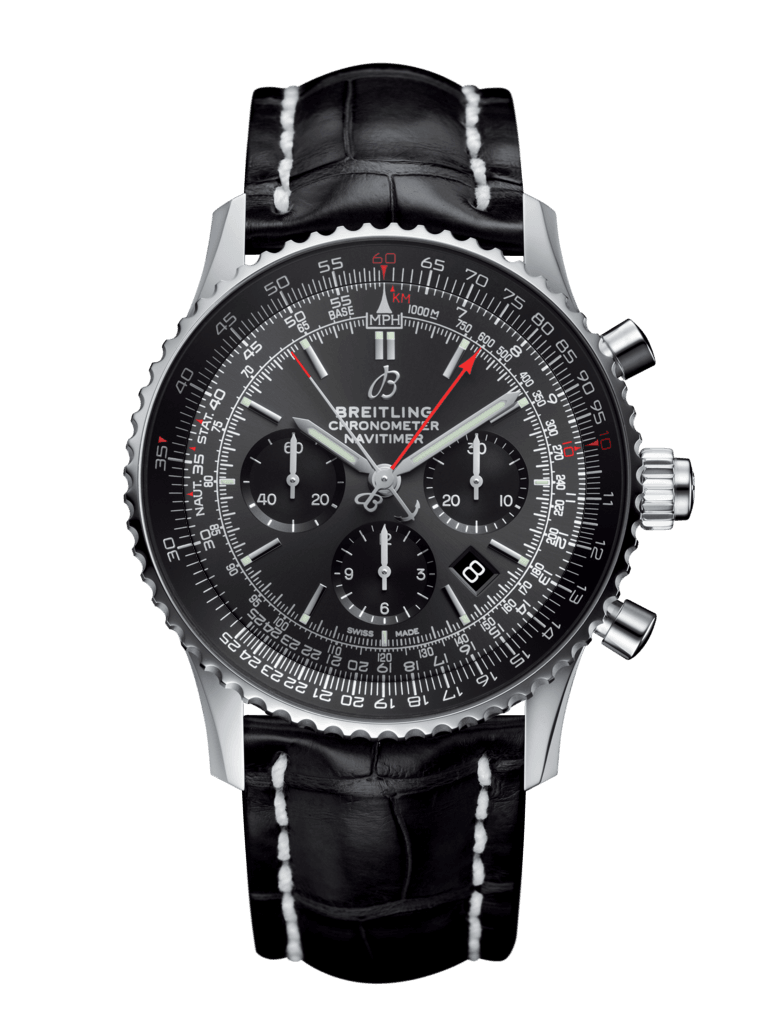 Navitimer 1 B03 Chronograph Rattrapante 45 Stratos Grey Boutique Edition - AB03102A1F1P2