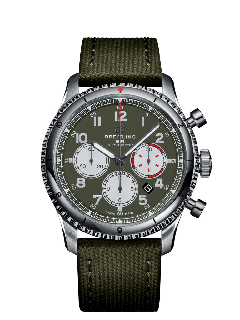 Aviator 8 B01 Chronograph 43 Curtiss Warhawk - AB01192A1L1X2
