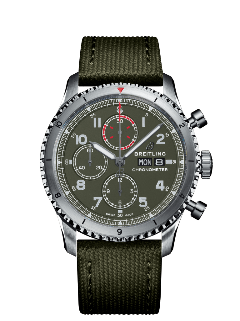 Aviator 8 Chronograph 43 Curtiss Warhawk - A133161A1L1X1