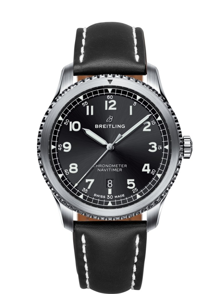 Navitimer 8 automatic 41 steel black a17314101b1x1 breitling for Breitling automatic